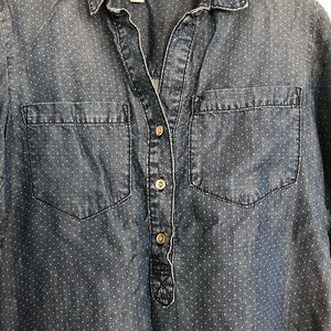 Cloth & Stone Anthropologie chambray denim top S